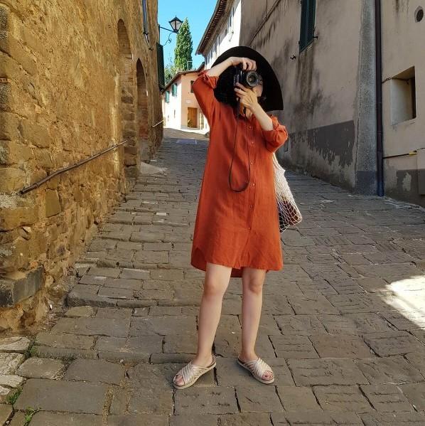 lino-gomlek-elbise-turuncu02-600×800