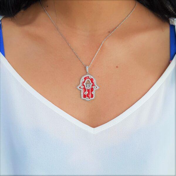 Red Crystal Hamsa