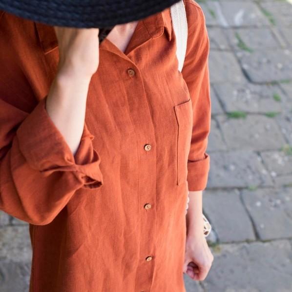 lino-gomlek-elbise-turuncu-600×800